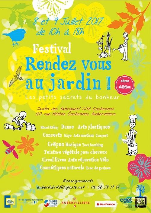 Rendez-vous au jardin - 9 juillet - Aubervilliers