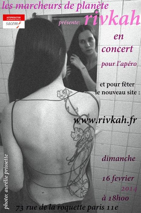 flyer concert aux Marcheurs de Planète février 2014