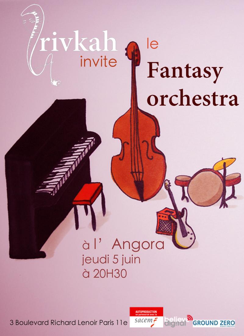 Rivkah et Fantasy Orchestra à l'Angora