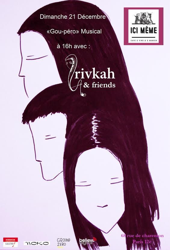 Rivkah and friends chez le caviste Ici-même