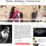 Rivkah – Birthdayz – Track by track - Sun Burns Out nov 2016