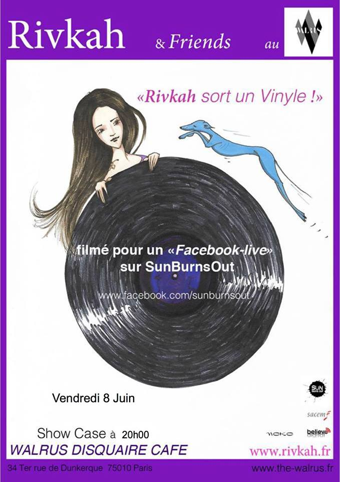 Rivkah sort un vinyl le 08 juin – Showcase au Walrus