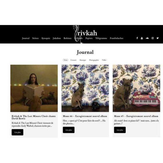 Nouveau site de Rivkah