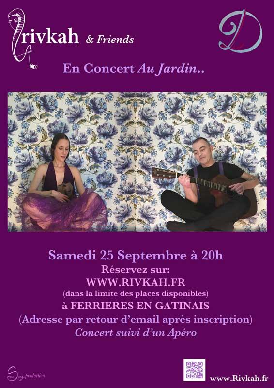 Rivkah en concert au jardin - 25 septembre 2021